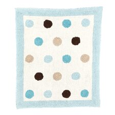 Mod Dots Blue Collection Floor Rug