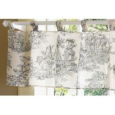 <strong>Sweet Jojo Designs</strong> Black Toile Cotton Curtain Valance