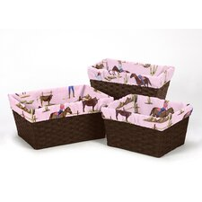 Cowgirl 3 Piece Basket Liner Set