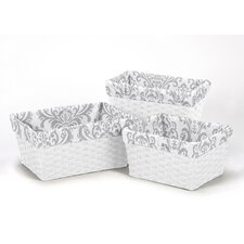 <strong>Sweet Jojo Designs</strong> Damask Basket Liner (Set of 3)