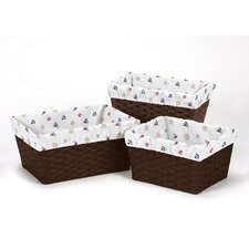3 Piece Nautical Basket Liner Set