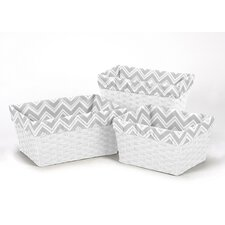 <strong>Sweet Jojo Designs</strong> 3 Piece Zig Zag Chevron Basket Liner Set