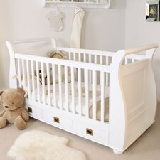 Nutkin Cot-Bed with Three Drawers in White Ash
