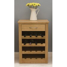 Mobel Oak Wine Rack Lamp Table