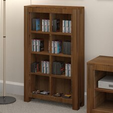 Mayan Walnut Open DVD/CD Storage Rack