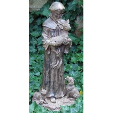 St Francis Holding Deer Statue