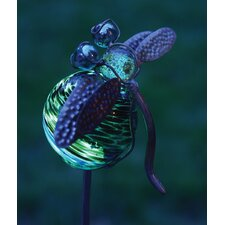 Dragonfly Illuminaries Glow in The Dark Stake with Globe