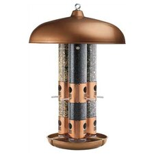Topflight Triple Tube Bird Feeder in Copper
