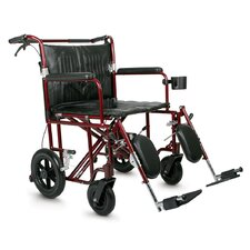 "Excel Freedom Plus 22"" Bariatric Transport Wheelchair"