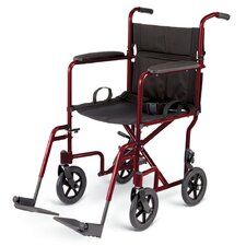 "<strong>Medline</strong> 19"" Ultra Lightweight Transport Bariatric Wheelchair"