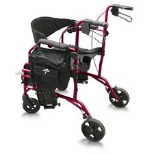 "<strong>Medline</strong> Combination 19"" Ultra Lightweight Rollator/Transport Wheelchair"