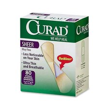 Curad Sheer Bandages, Clear,  80 per Pack