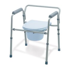 <strong>Medline</strong> Folding Steel 3-in-1 Commode