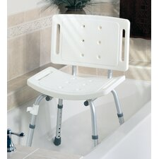 Unassembled Shower Chair in White with Back