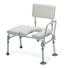 <strong>Medline</strong> Padded Transfer Bench with Commode Opening