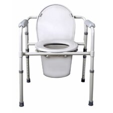 3-in-1 Deluxe Foldable Steel Commode