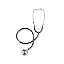 Dual-Head Stethoscope, 22 Long, Black Tube