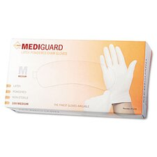Mediguard Powdered Latex Exam Gloves, Medium, 100/Box