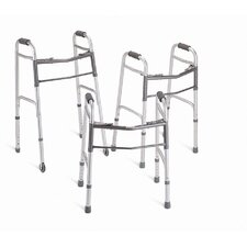 <strong>Medline</strong> Youth Two-Button Folding Walker (Set of 4)