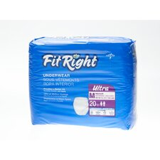 <strong>Medline</strong> FitRight Ultra Protective Underwear (Pack of 80)