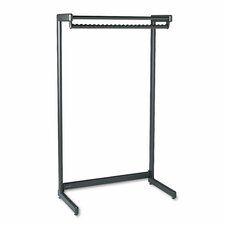<strong>Quartet®</strong> Wide Single Side Garment Rack with Shelf
