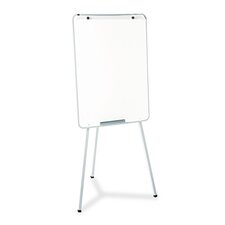 Oval Office Dry-Erase Presentation Easel in Melamine with Gray Frame