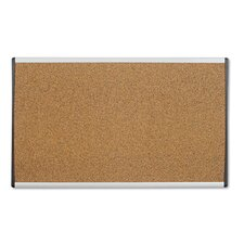 <strong>Quartet®</strong> Cubicle Arc Frame Colored Cork Board with Tan with Aluminum Frame