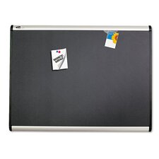 <strong>Quartet®</strong> Prestige + Magnetic Fabric Bulletin Board with Aluminum Frame