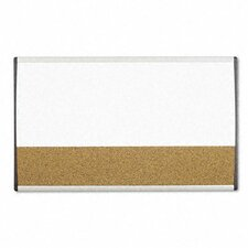"Magnetic Dry Erase/Cork 1' 6"" x 2' 6"" Bulletin Board"