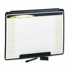 "Motion Portable Monthly Calendar Dry Erase 1' 6"" x 2' Whiteboard"