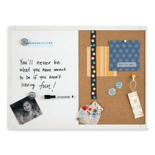 "<strong>Quartet®</strong> Magnetic/Dry-Erase Board, 11""x17"", White"