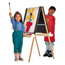 <strong>Quartet®</strong> Double Panel Easel, Height Adjustable, Natural Oak