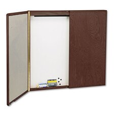 Veneer Conference Room Cabinet 4' x 4' Bulletin Board
