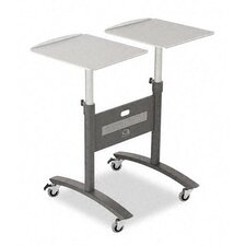 Two-Arm LCD Projector Cart in Graphite