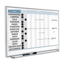 "Matrix In/Out Boards, 15 Names, 23""x16"", Aluminum"
