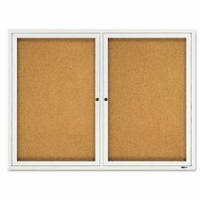 <strong>Quartet®</strong> Double Enclosed Cork Bulletin Board