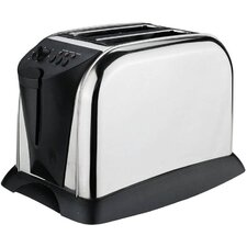 2 Slice Polished Toaster in Stainless Steel