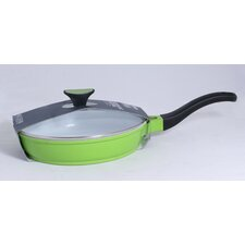 26cm Die Cast Aluminium Saute Pan in Green
