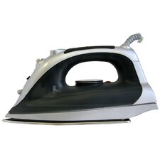 Steam Iron in Black & Silver