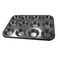 Shallow CupcakeTray in Carbon Steel (12 Cups)