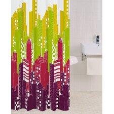 PEVA Shower Curtain in Bright Lights Big City