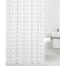 Polyester Shower Curtain in Carrara