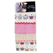 Cupcake Tea Towels (Set of 3)