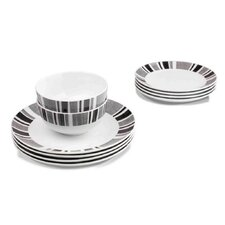 12 Piece Herringbone Dinnerware Set