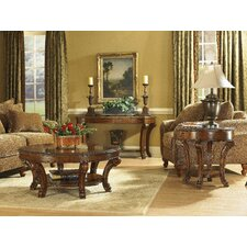 Old World Round Coffee Table Set