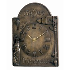 Golfers Welcome Wall Clock