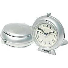 Metal Travel Alarm Clock with Snooze