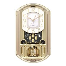 Rectangular Gold Music Wall Clock