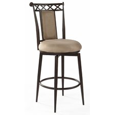 Memory Return Swivel Counter Stool in Taupe