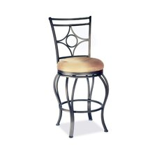"30"" Memory Swivel Bar Stool with Low Round Seat"